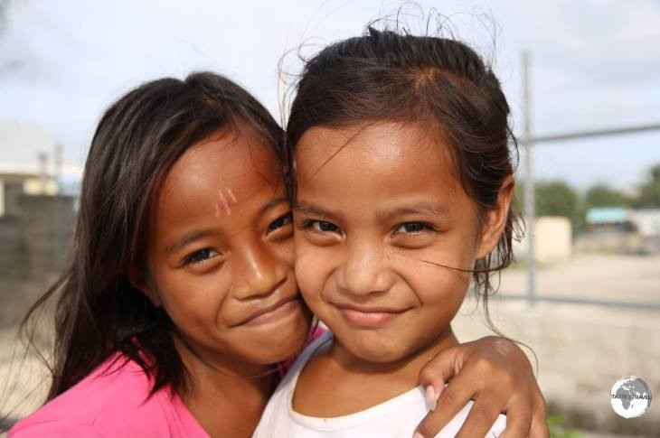 Betio Island girls.