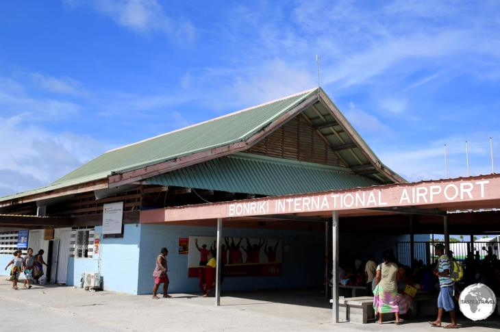 Terminal at Bonriki International Airport.