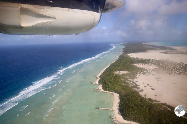 On approach to Maiama island – one of the outer islands.