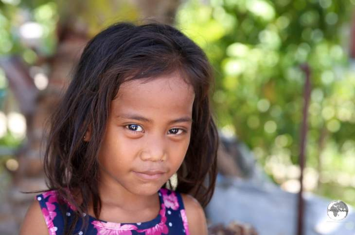 Young girl on Betio Island.