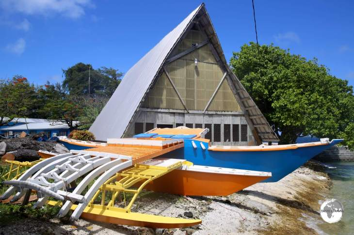 Traditional Boat Building workshop in Majuro.