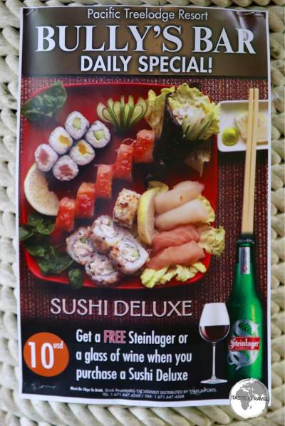 The awesome Sushi Deluxe special at Bully's. Incredible value.