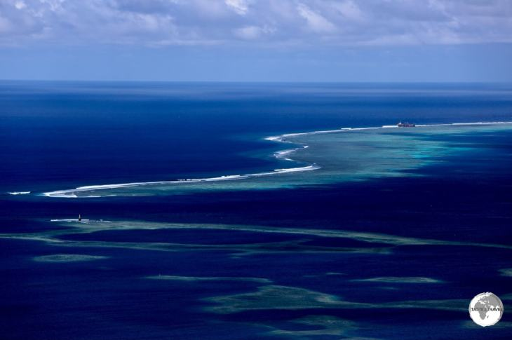 View of the fringing reef that protects Pohnpei.