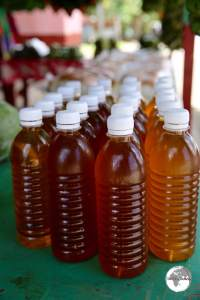 Coconut oil for sale on Chuuk.