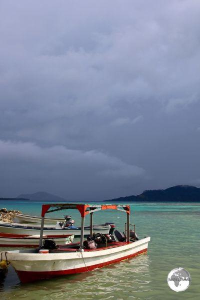 Stormy skies over Chuuk lagoon.