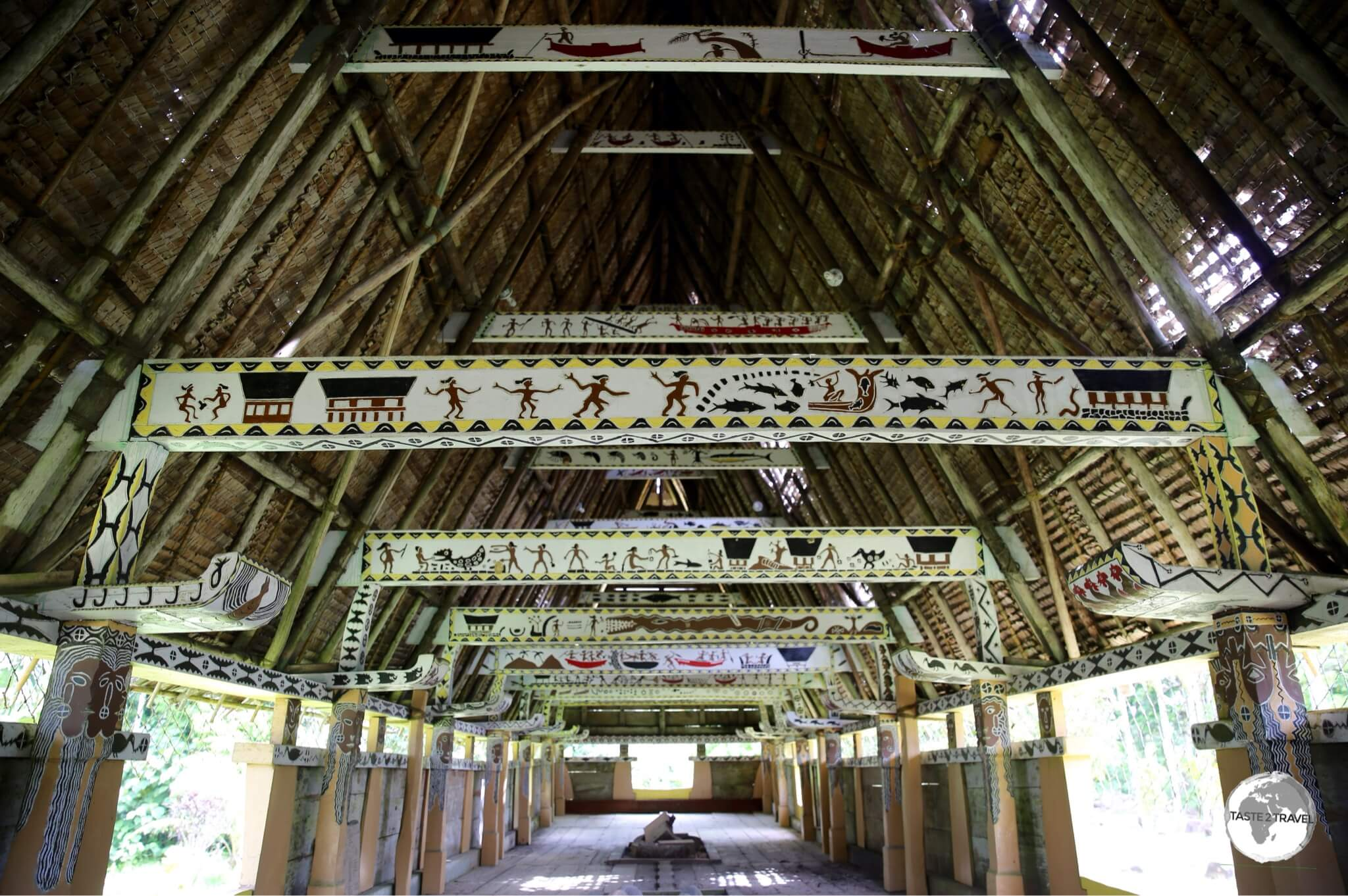 Interior of a traditional Bai.