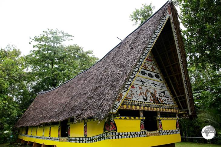 Traditional Bai at the Belau National museum in Koror.