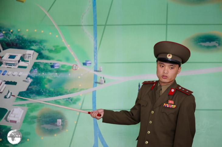 Tour guide providing an overview of the DMZ.