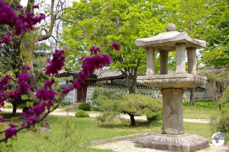 Garden at the Koryo Museum in Kaeson.
