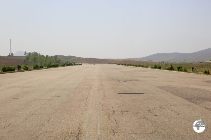 The wide, empty expressway to Nampo is typical of roads in North Korea where there are just 30,000 cars serving a population of 25,000,000.
