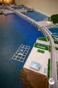 Model of the West Sea Barrage, North Korea.