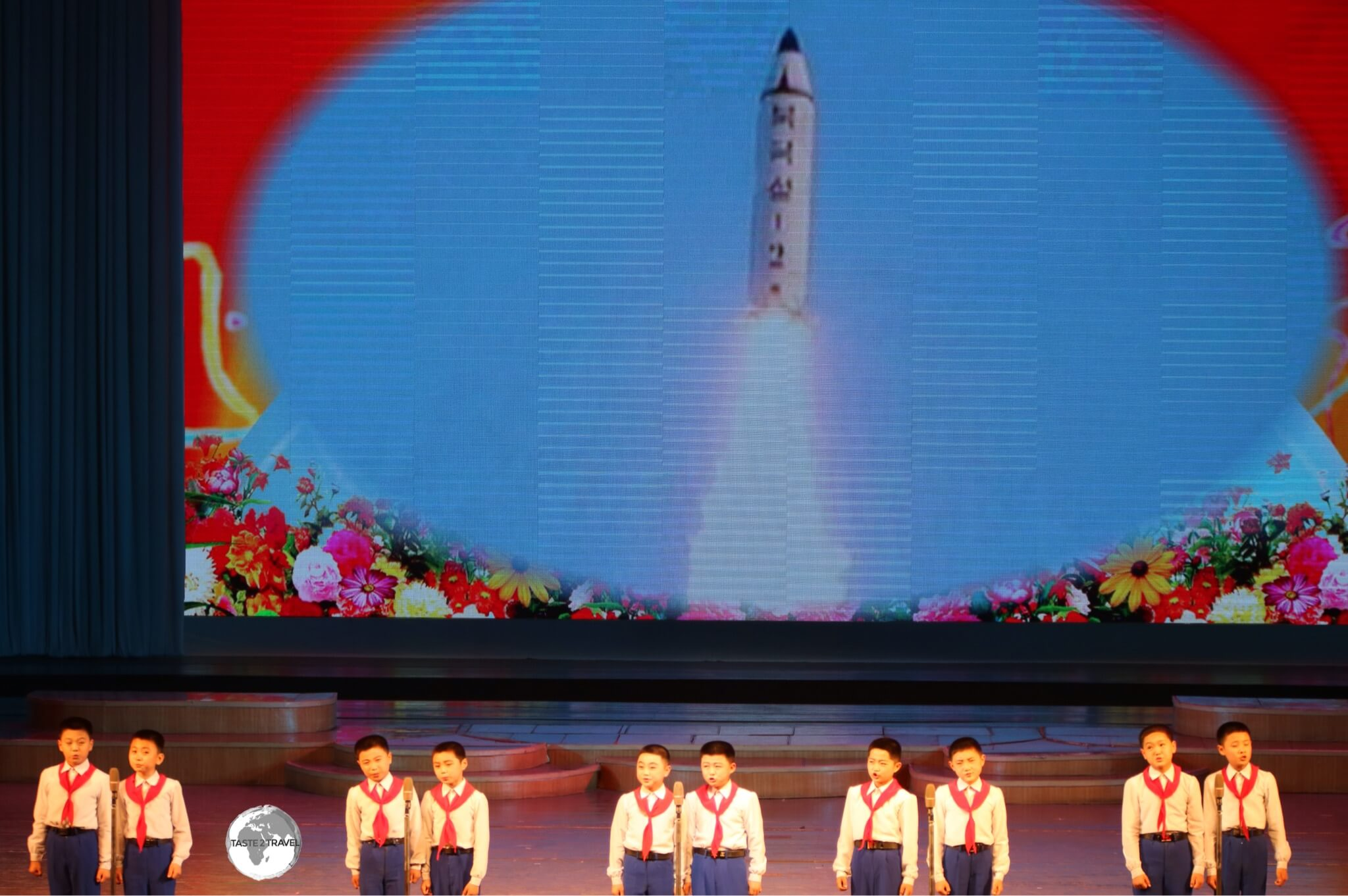 Nothing like a rocket blasting into space to enhance a children's dance routine.