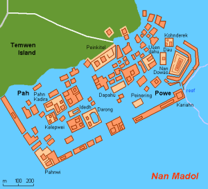 Diagram of Nan Madol