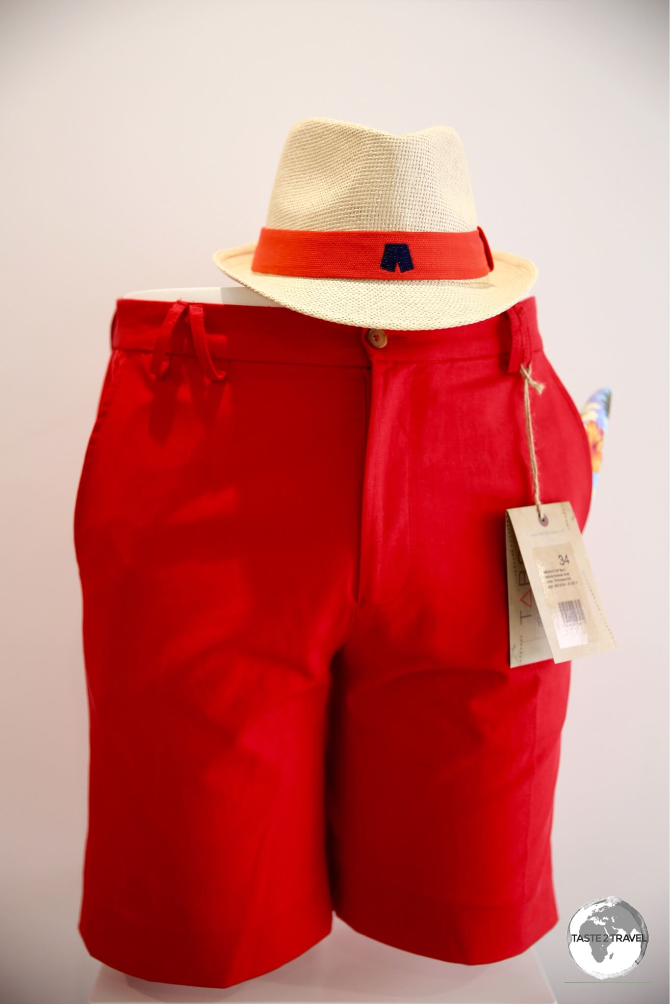'Bermuda Red' Bermuda shorts are popular with the locals.
