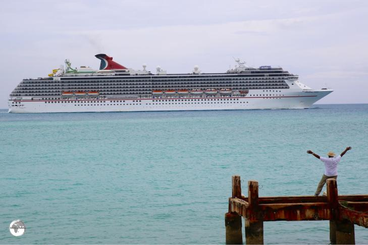 Most tourists to Bermuda arrive on a cruise ship from the United States.