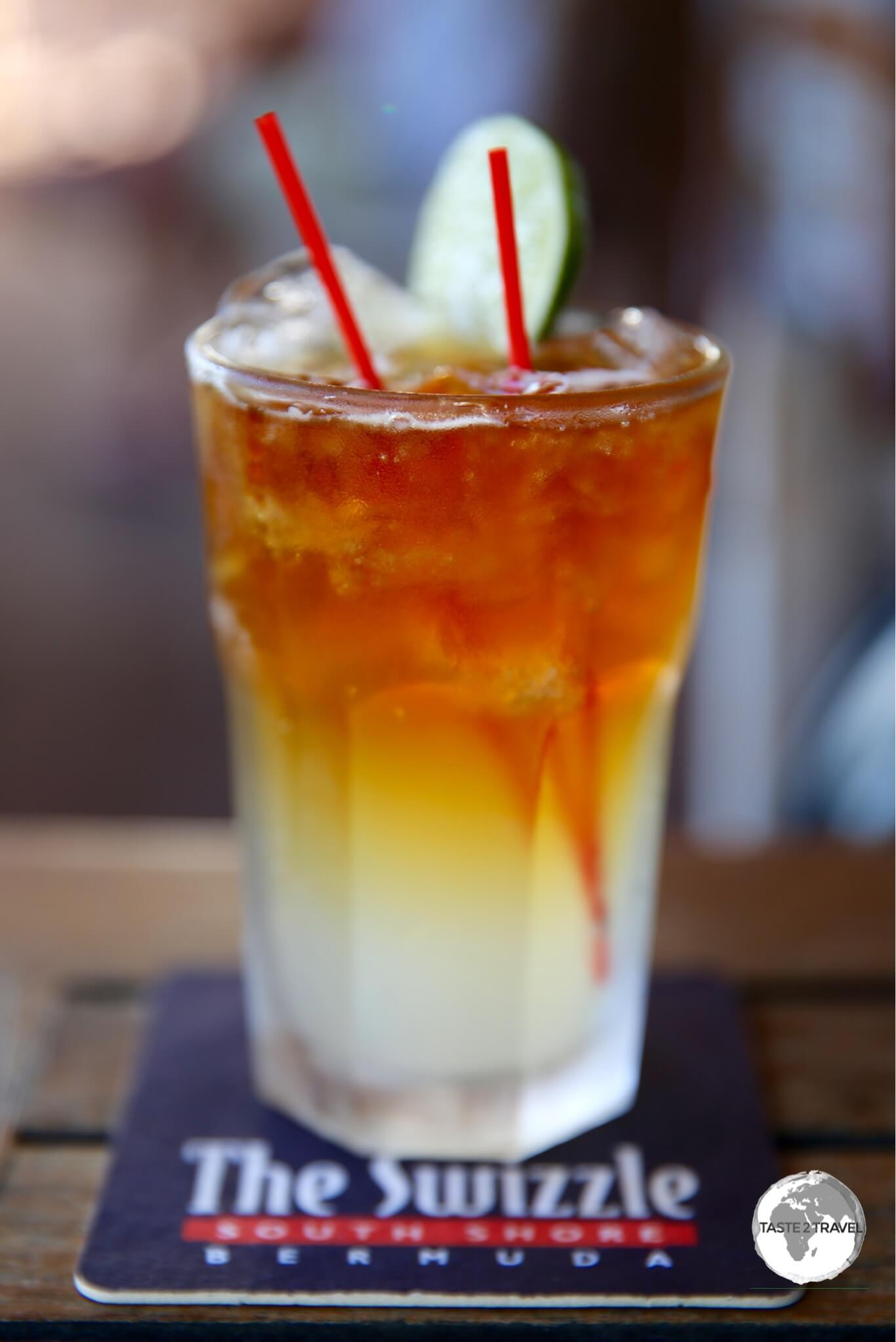 An island staple – the Dark 'n' Stormy cocktail.