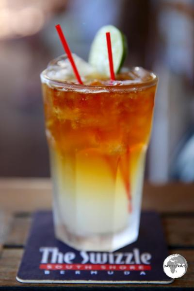 An island staple - the Dark 'n' Stormy cocktail.