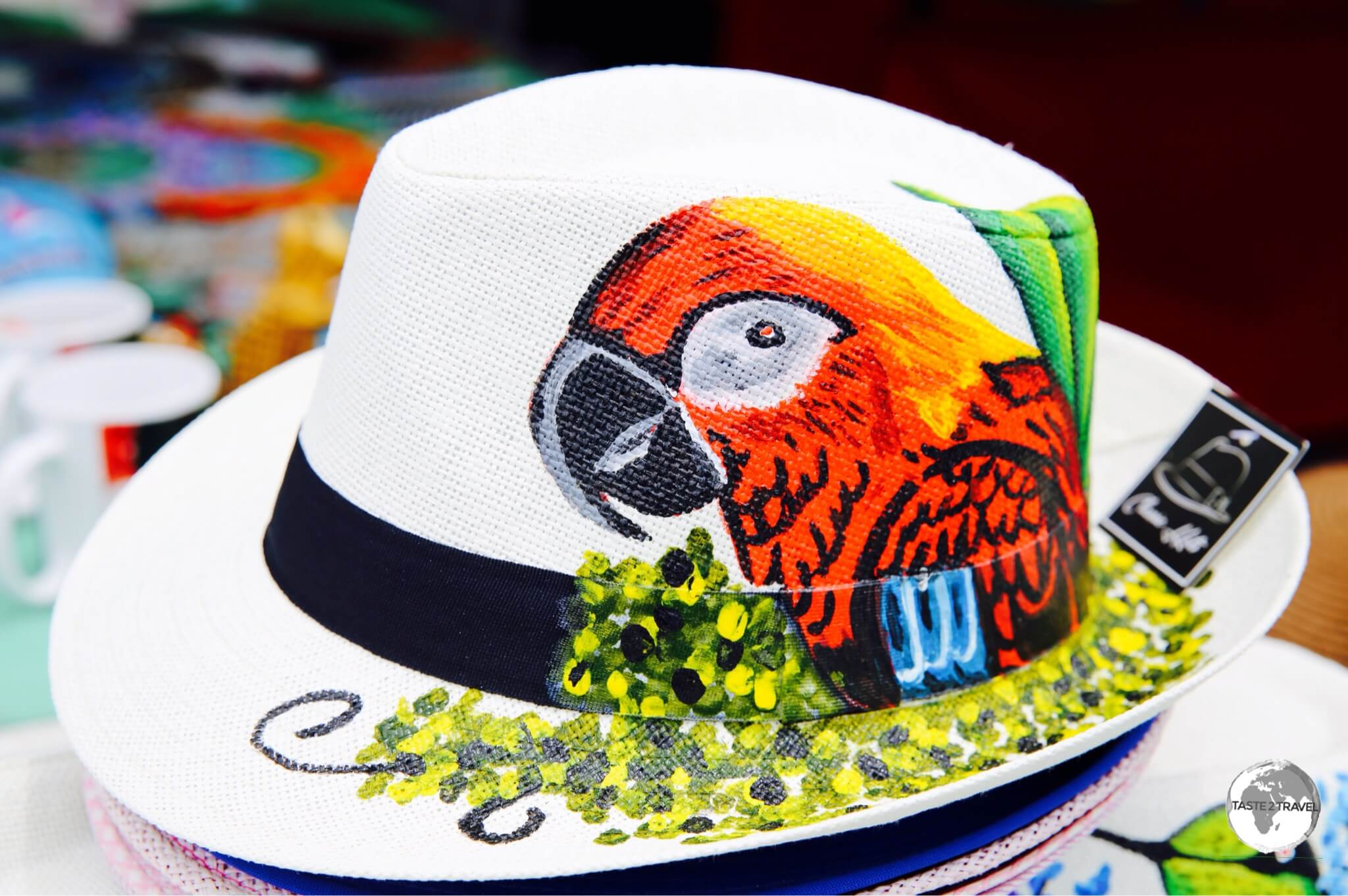A decorative Panama Hat for sale in Panama City.