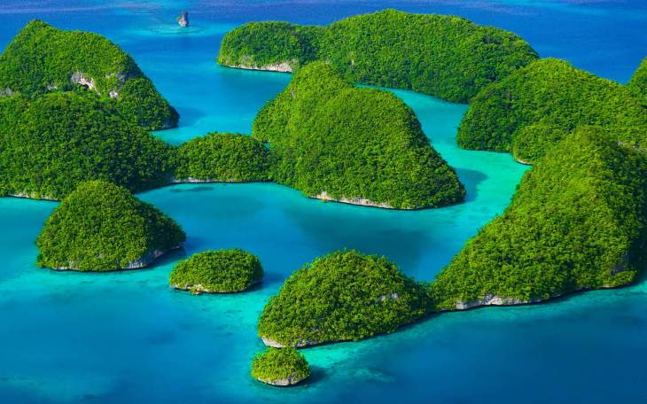 The spectacular Rock Islands of Palau.