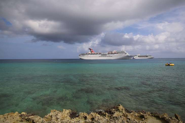 Cruise ships in George Town, Cayman Islands.