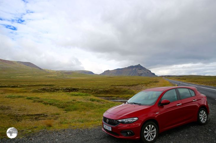 Iceland Travel Guide: My rental car on the Ring road.