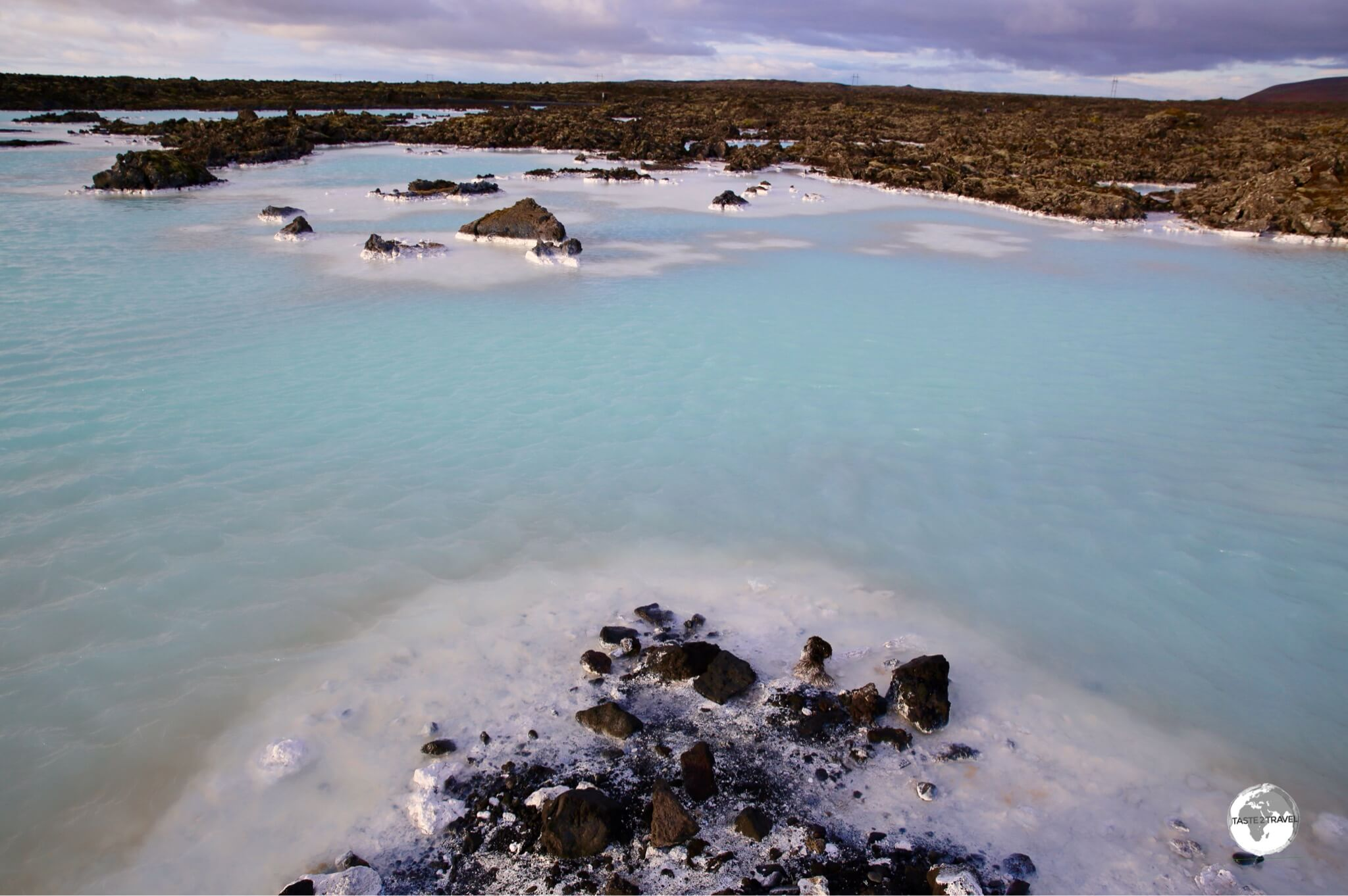 The milky-coloured water of Blue Lagoon.