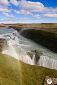 Always a rainbow at Gullfoss.