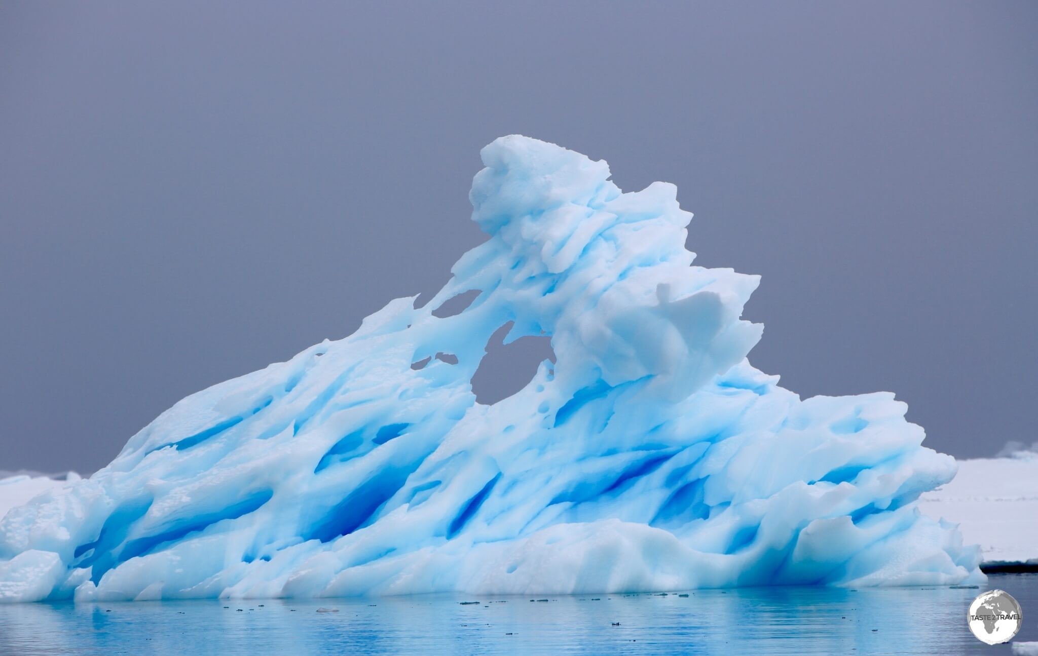 Dramatic ice formation on Crystal Sound, Antarctica.