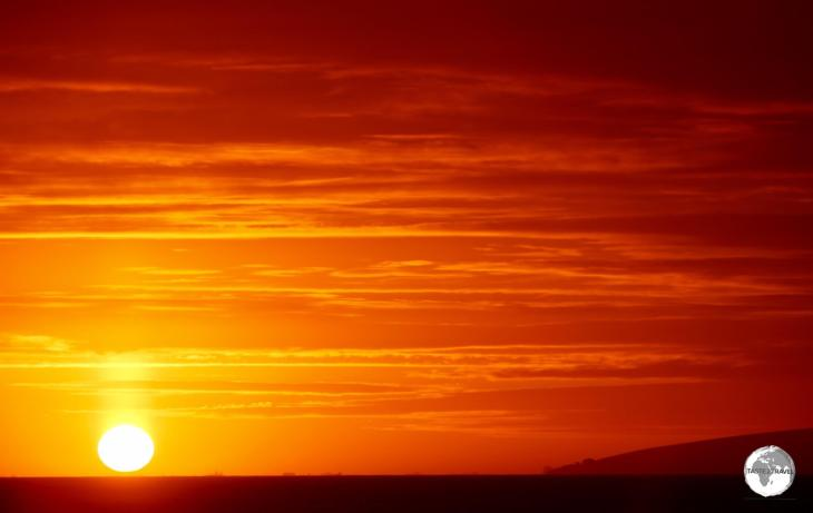 On our last day in Antarctica, a spectacular sunset bid us a final farewell.
