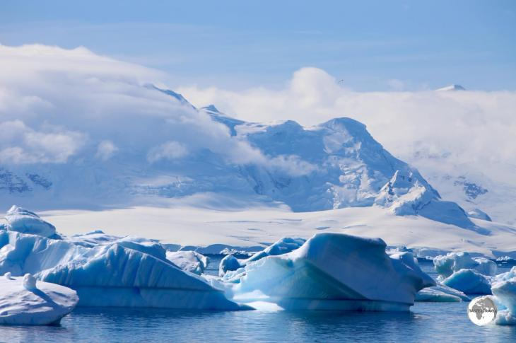 A view of the ice-filled Errera Channel from Danco island.