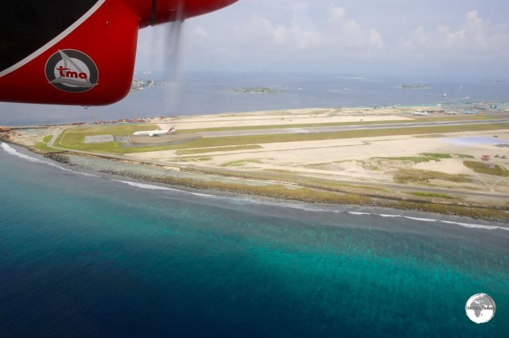 A view of Velana International airport which is currently undergoing an $800-million expansion.