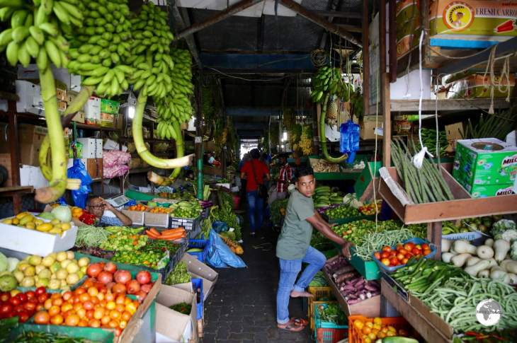 Shopping at the central market in Malé.