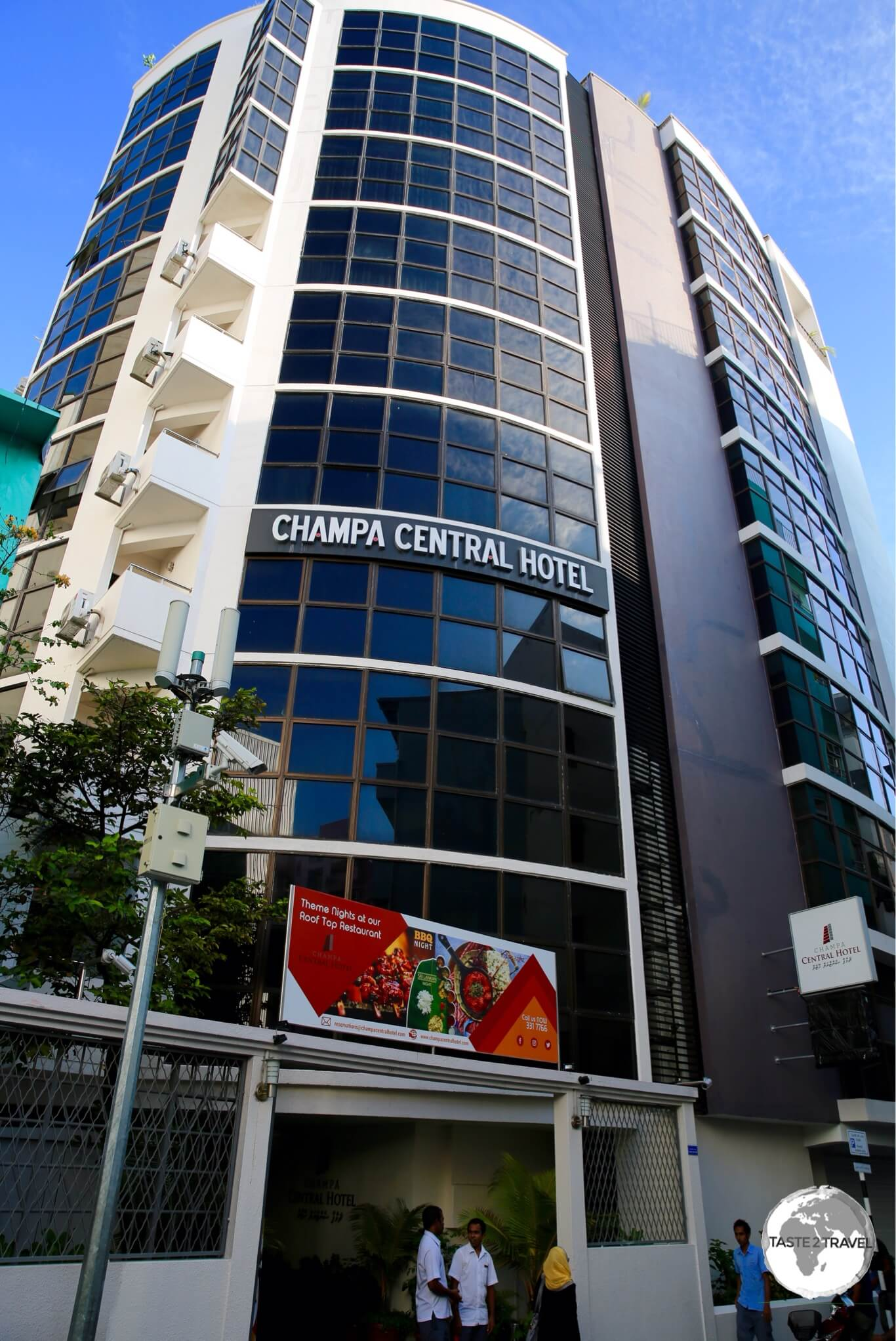 The very comfortable 4-star Champa Central hotel is located in the heart of Malé.