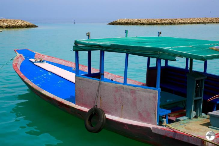 In an atoll nation like the Maldives, boats are the main form of transport.