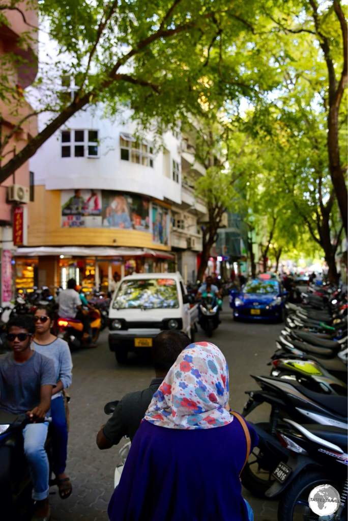 The capital, Malé, is a very crowded, busy place. One of the most densely populated places on earth.