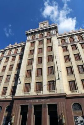 The former headquarters of the Bacardi rum company in Havana.