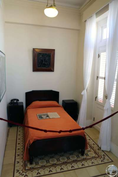 Ernest Hemingway's room at the <i>Hotel Ambos Mundos</i> in Havana old town.