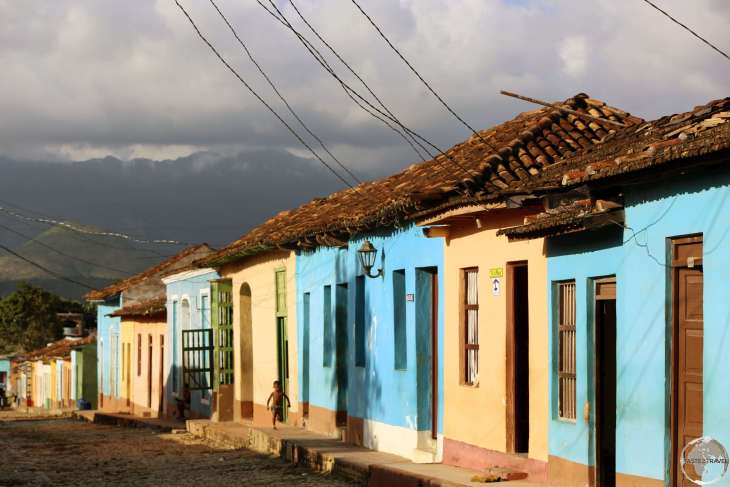 Colourful houses line the cobbled streets of Trinidad old town.