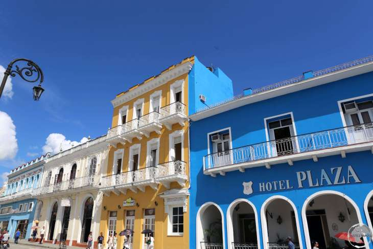Parque Serafin Sanchez, the main square of Sancti Spíritus, is lined with beautiful buildings.