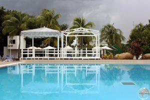 The swimming pool at the Hotel Melia Santiago de Cuba.