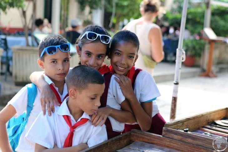 School children in Havana old town.