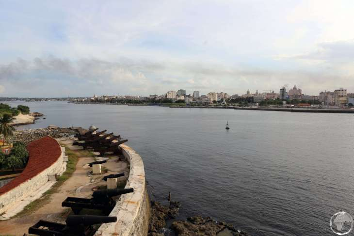 View of Havana harbour from Morro Castle.