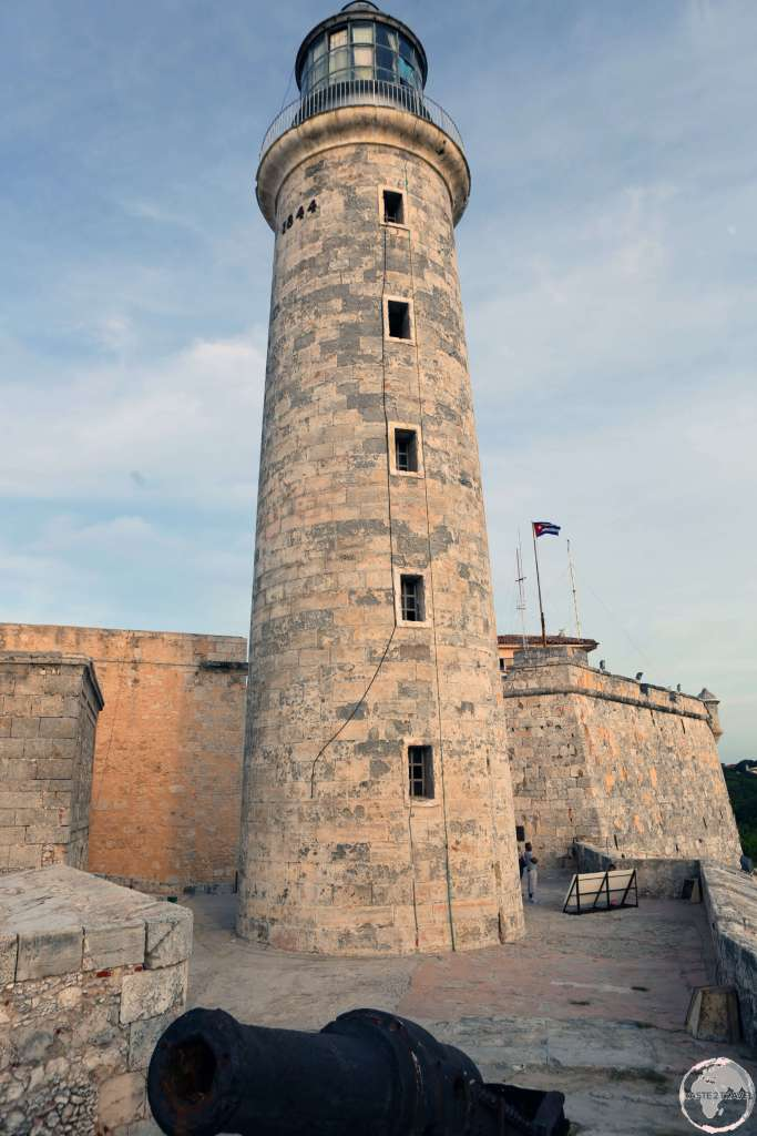 The lighthouse at the entrance to Havana harbour is inside Castle Morro.