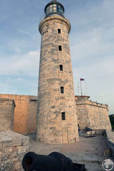 This lighthouse which stands at the entrance to Havana harbour is part of the Castle Morro complex.
