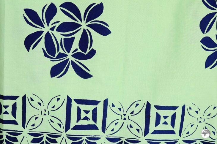 A hand-printed 'Lava-Lava' (Sarong) in Nuku'alofa.