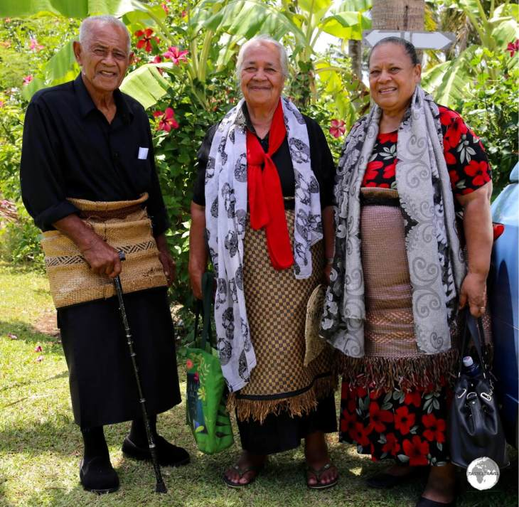 The woven Ta'ovala is worn around the waist for all formal occasions in Tonga.