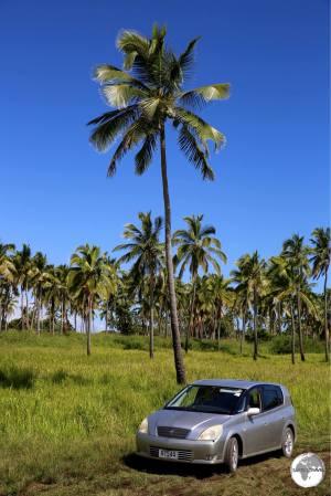 My rental car at Tsunami rock.