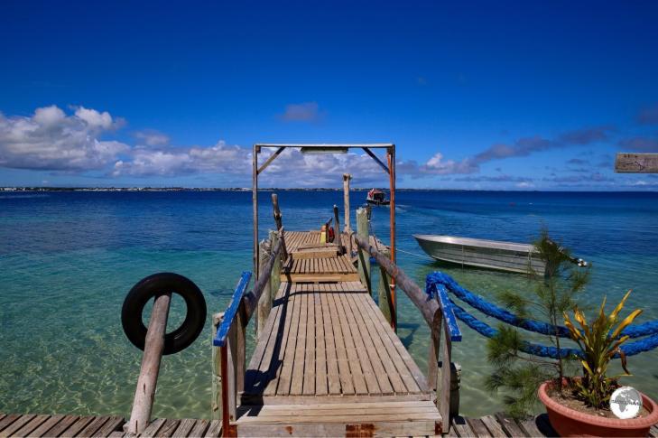 Pangaimotu island resort.