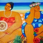 Tongan artwork at Friend's Cafe in Nuku'alofa.
