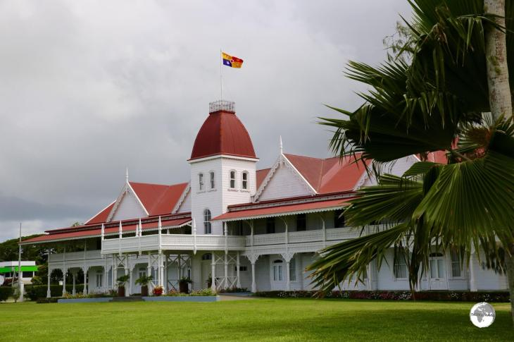 The Victorian-style, wooden Royal Palace overlooks the waterfront in Nuku'alofa.